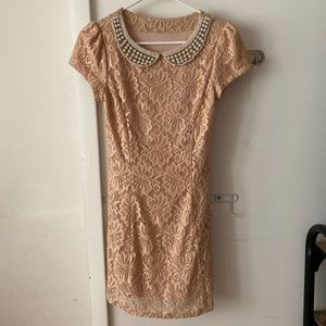 Women dress double layer laced